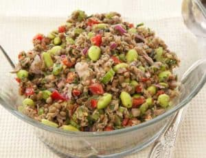 Lentil and Soy Bean Salad